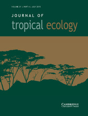 Spatial distribution of Bertholletia excelsa in selectively logged forests of the Peruvian Amazon