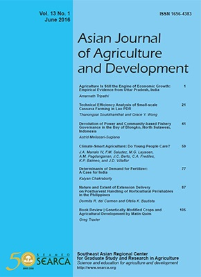 Technical Efficiency Analysis of Small-scale Cassava Farming in Lao PDR