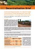 Continued marginalisation of under privileged communities: forest management following decentralization in Sintang, West Kalimantan