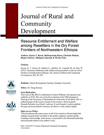 Resource entitlement and welfare among resettlers in the dry forest frontiers of northwestern Ethiopia.