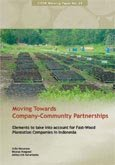 Moving towards company-community partnerships: elements to take into account for fast-wood plantation companies in Indonesia