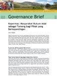 Kopermas: masyarakat hukum adat sebagai tameng bagi pihak yang berkepentingan