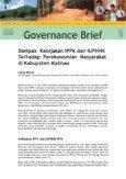 Dampak kebijakan IPPK dan IUPHHK terhadap perekonomian masyarakat di Kabupaten Malinau