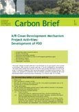 A/R clean development mechanism project activities: development of PDD