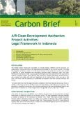 A/R clean development mechanism project activities: legal framework in Indonesia