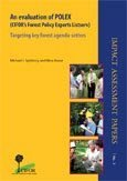 An evaluation of POLEX (CIFOR's Forest Policy Experts Listserv): targeting key forest agenda-setters