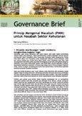 Prinsip Mengenal Nasabah (PMN) untuk Nasabah Sektor Kehutanan