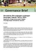 Perubahan Perundangan-undangan Keuangan Daerah Tahun 2004: Bagaimana Pengaruhnya pada Program Penanggulangan Kemiskinan Daerah?