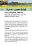 District governments and poverty alleviation in forest areas in Indonesia
