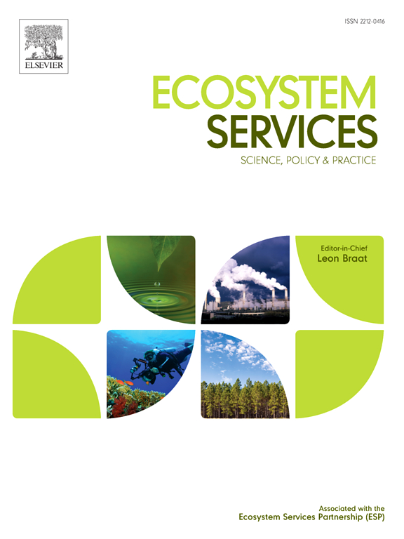 Assessing community values to support mapping of ecosystem services in the Koshi river basin, Nepal