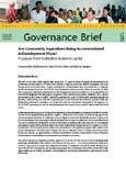 Are community aspirations being accommodated in development plans?: a lesson from collective action in Jambi