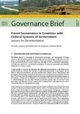Forest governance in countries with federal systems of government: lessons for decentralization