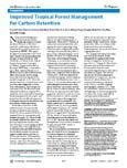 Improved tropical forest management for carbon retention