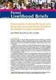Favoreciendo el desarrollo local en la Amazonia: lecciones de las iniciativas de manejo forestal comunitario