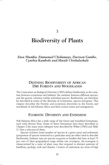 Biodiversity of plants