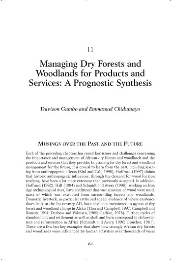Managing dry forests and woodlands for products and services: a prognostic synthesis