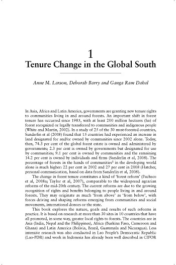 Tenure change in the global south