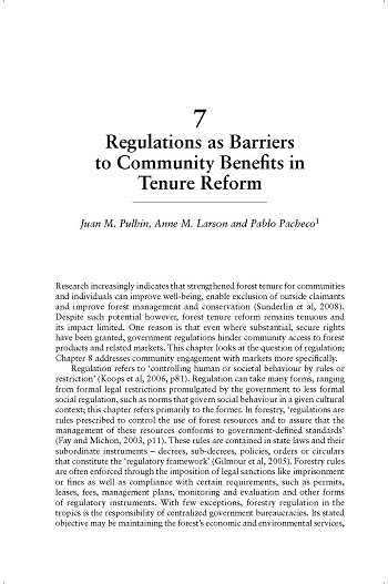 Regulations as barriers to community benefits in tenure reform