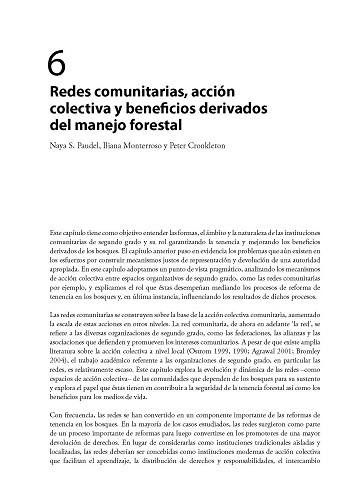 Redes comunitarias, acción colectiva y beneficios derivados del manejo forestal