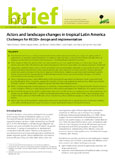 Actors and landscape changes in tropical Latin America: challenges for REDD+ design and implementation