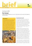 Pro-Formal: políticas y opciones regulatorias para reconocer e integrar mejor el sector doméstico de la madera en los países tropicales