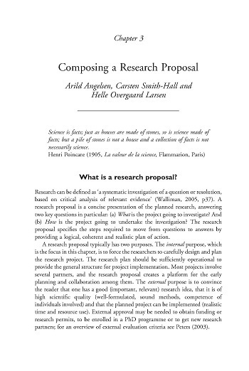 Composing A Research Proposal  Center For International Forestry