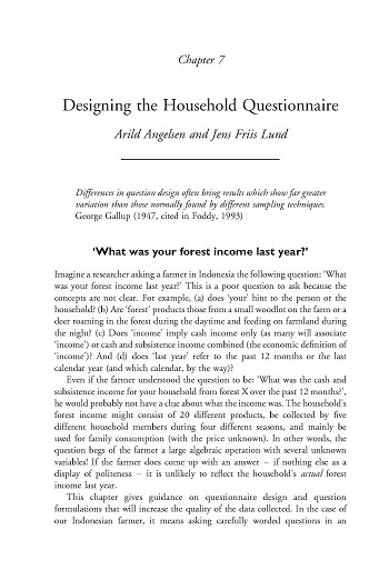 Designing the household questionnaire