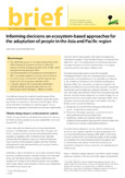 Informing decisions on ecosystem-based approaches for the adaptation of people in the Asia and Pacific region