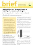 Le bois �nergie pour les centres urbains en R�publique D�mocratique du Congo: Le principal produit forestier et énergétique remis à l'ordre du jour de