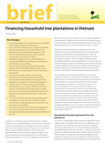Financing household tree plantations in Vietnam: Current programmes and future options