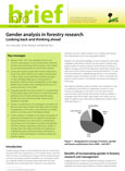 Gender analysis in forestry research: looking back and thinking ahead
