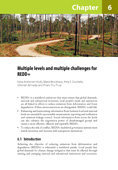 Multiple levels and multiple challenges for REDD+: Lessons from the field