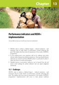 Performance indicators and REDD+ implementation