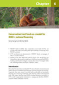 Conservation trust funds as a model for REDD+ national financing