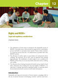 Rights and REDD+: Legal and regulatory considerations