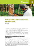 Reinforcing REDD+ with reduced emissions agricultural policy
