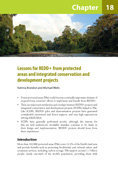 Lessons for REDD+ from protected areas and integrated conservation and development projects
