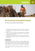 How can emissions from woodfuel be reduced?