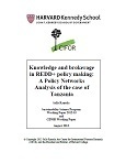 Knowledge and brokerage in REDD+ policy making: A Policy networks analysis of the case of Tanzania