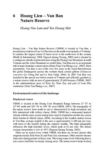 Hoang Lien - Van Ban Nature Reserve.