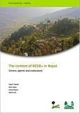 The context of REDD+ in Nepal: Drivers, agents, and institutions