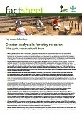 Gender analysis in forestry research: what policymakers should know