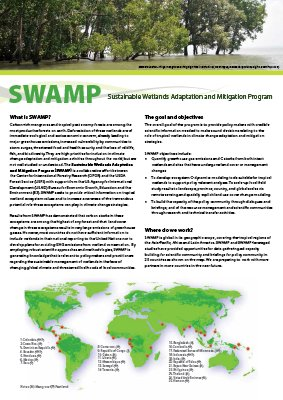 SWAMP: Sustainable Wetlands Adaptation and Mitigation Program