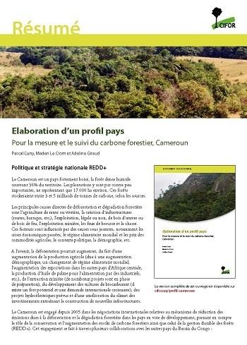 R�sum� Elaboration d'un profil pays: Pour la mesure et le suivi du carbone forestier, Cameroun
