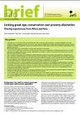Linking great ape conservation and poverty alleviation: Sharing experiences from Africa and Asia