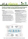 Gender strategy for the CGIAR Research Program on Forests, Trees and Agroforestry (CRP-FTA)