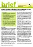 G�nero, tenencia y bosques comunitarios en Uganda