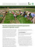 CIFOR Proposal Assessment Tool on Gender for Managers or Reviewers: Has this proposal demonstrated appropriate attention to gender issues?