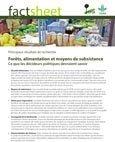 For�ts, alimentation et moyens de subsistance: ce que les décideurs politiques devraient savoir