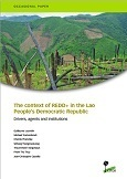 The context of REDD+ in the Lao People's Democratic Republic: Drivers, agents and institutions